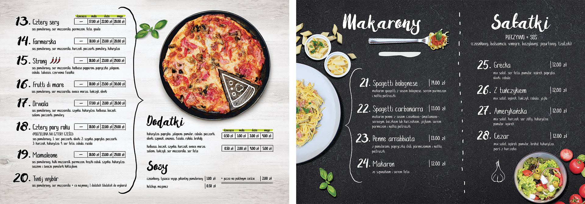 Mamaleone pizza i catering Menu