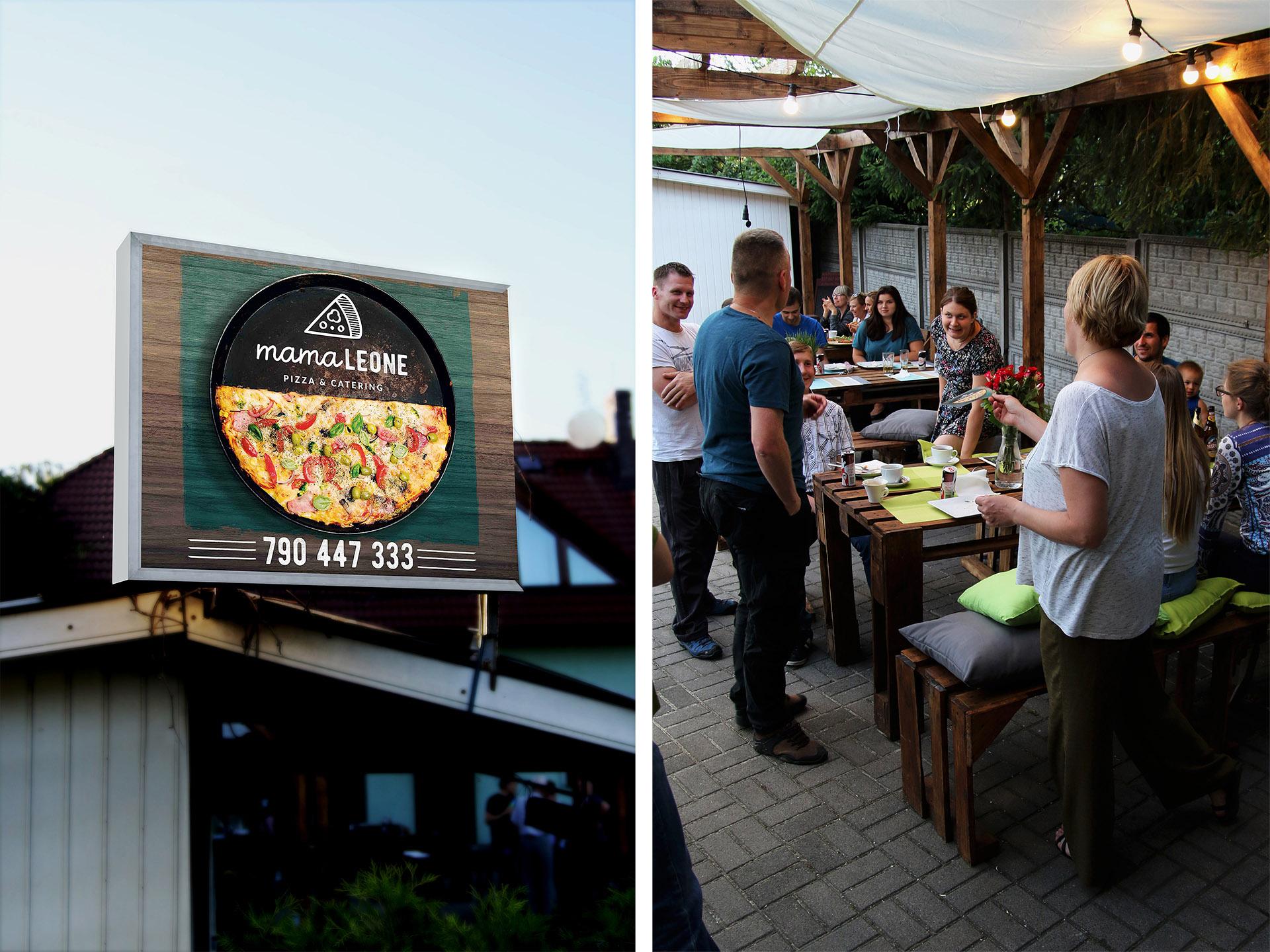 Pizzeria Mamaleone szyld